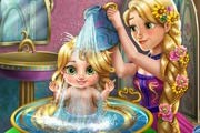 game Rapunzel Baby Wash