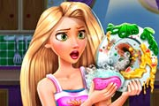 game Rapunzel Dish Washing Realife