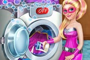 game Super Barbie Washing Capes