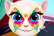 Talking Angela Face Painting Game