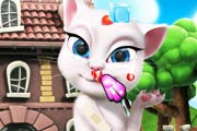 game Talking Angela. Injury