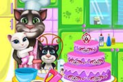 game Tom Family Cooking Cake