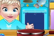 game Baby Elsa Cooking Homemade Icecream