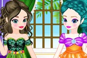 game Baby Elsa With Anna Dress Up