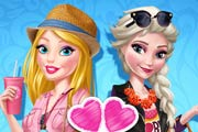 game Barbie And Elsa Bffs