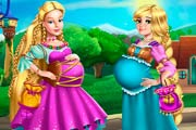 Barbie And Rapunzel Pregnant BFFs