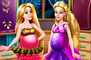 game Barbie And Rapunzel Pregnant Wardrobe