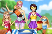 game Barbie Family Cooking Barbecued Wings