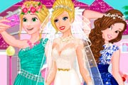 game Barbies Wedding Selfie With Princesses