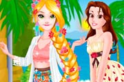 game Belle And Rapunzel California Girls