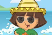 game Dora Beach Dress Up