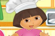 game Dora Cooking Crackers