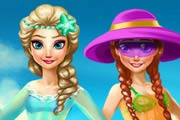 game Elsa And Anna Summer Break