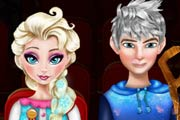 game Elsa And Jack Cinema Kissing