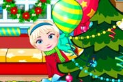 game Elsa Baby Celebrate Christmas