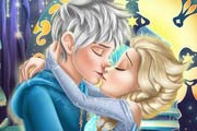 game Elsa Kissing Jack Frost