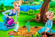 game Elsa Mommy Gardening