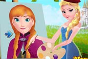game Elsa Painting Anna