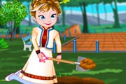 game Frozen Anna Fruit Garden