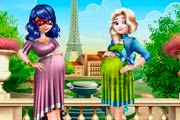 game Ladybug And Elsa Pregnant BFFs