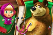 game Masha And The Bear Injured