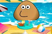 game Pou At The Beach