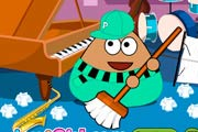 game Pou Classroom Clean