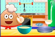 game Pou Cooking Pancakes