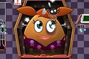 game Pou Girl Halloween Emergency