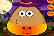 game Pou Halloween Costume