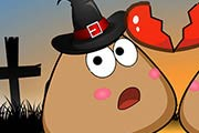 game Pou Halloween Kissing