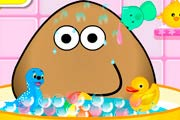 game Pou Takes A Shower