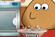 game Pou Washing Dishes