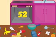 game Pregnant Dora Cleaning Kitchen