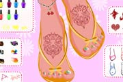 game Pretty Pedicure Design