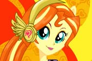 game Rainbow Rocks Sunset Shimmer Dress Up