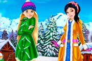 game Rapunzel And Snow White Winter Dress Up