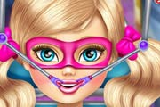 game Super Barbie Sister Throat Doctor