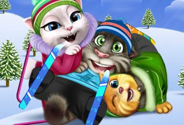 game Talking Tom Mountain Skiing Resort