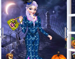 Game Anna and Elsa first Halloween