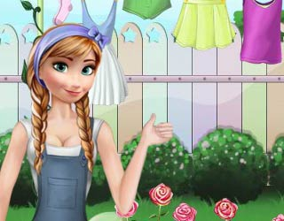 Game Anna Frozen Great Cleaning