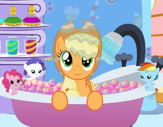 Game Applejack Bubble Bath