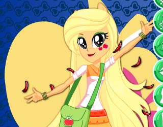 Game Applejack Rocking Hairstyle