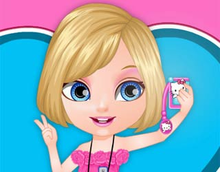 Game Baby Barbie Selfie Card