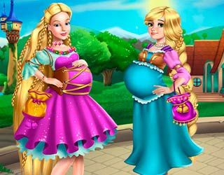 Game Barbie And Rapunzel Pregnant BFFs