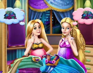 Game Barbie and Rapunzel Share Wardrobe