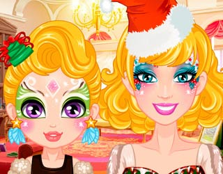 Game Barbie Christmas Face Painting