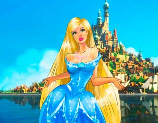 Game Barbie Rapunzel New Look