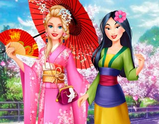 Game Barbie Visits Mulan