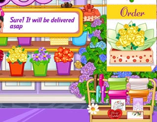 Game Barbie's Flower Shop